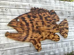 large outdoor wall art fish decor coastal fish sign goliath
