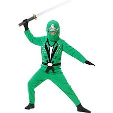 Halloween Costume Ninja Amazon Child Ninja Avenger Costume Jade 84399 Clothing