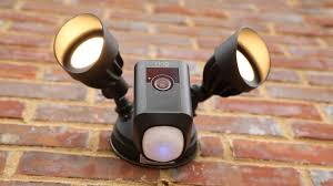 ring security light camera ring s outdoor floodlight camera shines fairly bright video cnet