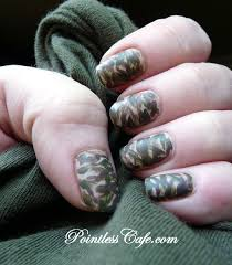 camo nails pointless cafe