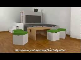 multifunctional all in one furniture set for small spaces youtube