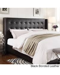 Black Full Size Headboard by Save Your Pennies Deals On Marion Nailhead Wingback Button Tufted