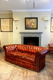 Red Leather Chesterfield Sofa by Circa 1920s English Leather Chesterfield Sofa Antique Seating