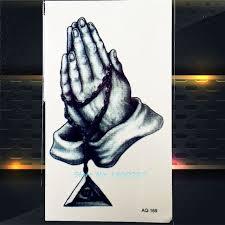 buddha hand tattoo aliexpress com buy 1pc the buddha waterproof tattoo stickers paq
