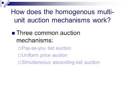 pay to bid auction strategic demand reduction in homogenous multiunit auctions where