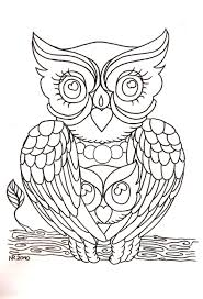 black outline owl tattoo stencil photos pictures and sketches