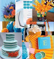 Baby Blue Wedding Decoration Ideas Orange And Blue Wedding Flower Centerpieces Los Angeles The