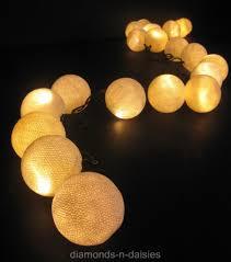 Ebay String Lights by White Cotton Ball Led String Fairy Lights Lanterns Set Party