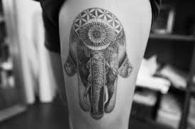 elephant henna tattoo on the hip impfashion all news about