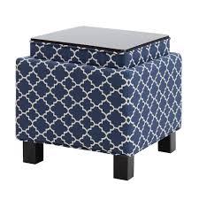 Navy Blue Storage Ottoman Sofa Blue Storage Ottoman Storage Ottoman Coffee Table Cube