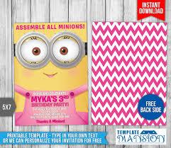 minions birthday invitation template 7 by templatemansion on