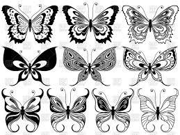 black ornamental butterflies vector clipart image 70750 rfclipart
