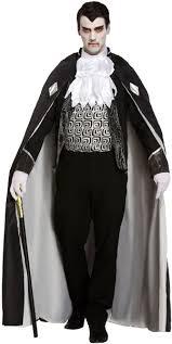Vampire Cape Scary Vampire Cape Mens Fancy Dress Halloween Gothic Dracula