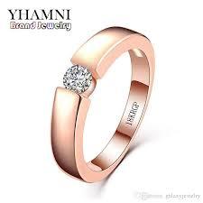 5mm ring 2018 yhamni original jewellery ring 18krgp st gold rings 5mm