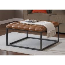 Table With Shelves Coffee Tables Appealing Fine Modern Leather Ottoman Coffee Table