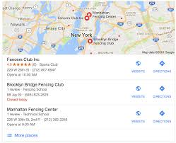 basics of local search marketing for fencing clubs fencing net