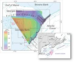 Us Map Topography U S And Canadian Geologists Collaborate In Mapping The Georges