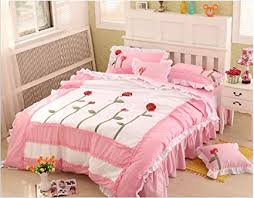 Korean Comforter Buy Pink Ruffle Bedding Set Princess Bed Comforter Comforters Sets