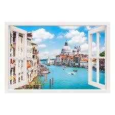 stickers trompe oeil mural sticker muraux trompe l u0027oeil sticker mural venise ambiance