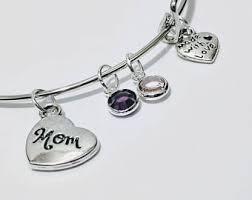 Children S Birthstone Jewelry Birthstone Gift Family Bracelet Initials New Mother Jewelry