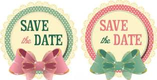 save the date stickers free 2 vintage wedding save the date stickers with bows vector