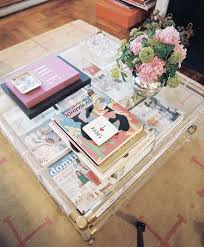 best home design coffee table books 20 chic ways to freshen up your coffee table lucite coffee tables