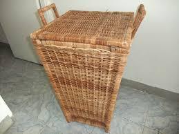 Cane Laundry Hamper by Wicker Furniture Made In Jamaica
