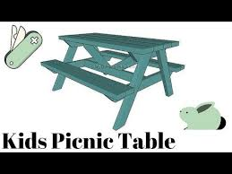 Free Building Plans For Outdoor Furniture by Best 25 Kids Picnic Table Plans Ideas On Pinterest Kids Picnic