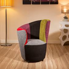 Ebay Armchair Modern Curved Multi Colour Fabric Armchair Armchairs Tub Chair