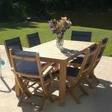 emerald outdoor reims weathered teak dining table hayneedle