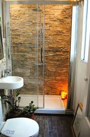 Bathroom Shower Remodel Ideas Rock The Shower Feelings Rock And Small Spaces