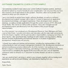 software engineer cover letter what are some exles of a cover letter for a software