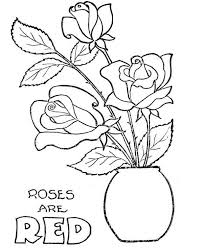 rose in flowerpot coloring page download u0026 print online coloring