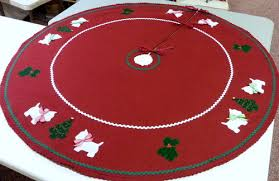 westie tree skirts and in the hoop