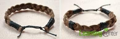 diy bracelet men images How to make an adjustable suede cord bracelet for guys jpg