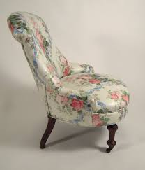 Slipper Armchair 19th Century Slipper Chair In Floral Chintz At 1stdibs
