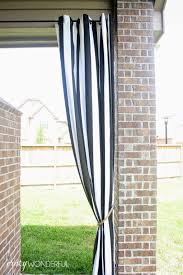 Black Outdoor Curtains Patio Curtains Diy Rope Tieback Wonderful