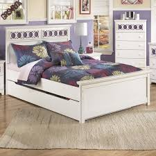 ashley storage bed signature design by ashley zoey full panel bed with trundle