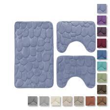tappeti da bagno set 3 pz tappetini da bagno antiscivolo sassolini tappeti memory