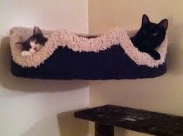 cat wall furniture mounted corner cat bed