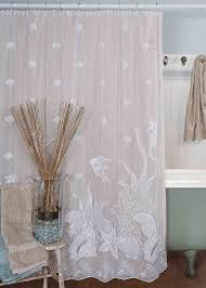 Bathroom Shower Curtain Decorating Ideas Bathroom Elegant Decorating Ideas With Swag Shower Curtain Fabric