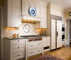 kitchen wall clock design with wooden kitchen cabinet also
