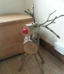 log reindeer log reindeers the whoot holidays logs crafts