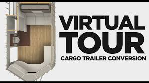 Cargo Trailer With Bathroom Cargo Trailer Camper Conversion Pre Build Virtual Tour Youtube