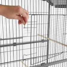 uccelli in gabbia gabbia per uccelli 168cm di altezza in antracite tectake