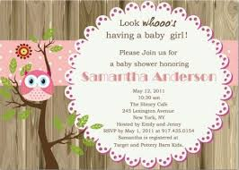 pink owl baby shower pink owl baby shower invitation with
