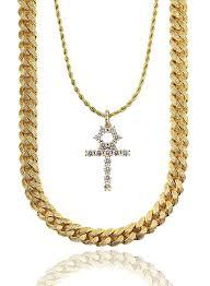 necklace with diamond images Diamond cuban link x ankh gold s v ge luxury wear jpg
