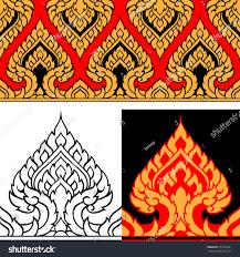 line thai art design vector illustration stock vector 723197461