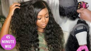 tutorial for black bonded weave hairstyles quick weave lace front wig tutorial hot glue method celie