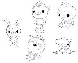 octonauts characters coloring download u0026 print